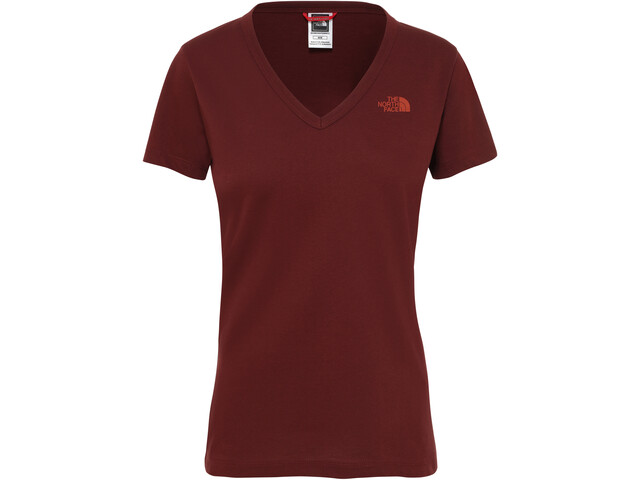 The North Face Simple Dome Lyhythihainen T-paita Naiset, sequoia red